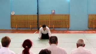 день 3.2  - семинар по Айкидо под руководством сенсея НОМУРА Наоми 7 дан