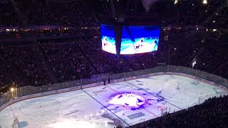 Golden Knights vs Leafs intro in T-Mobile arena