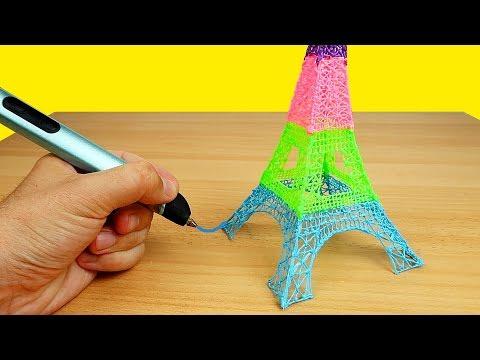Как пользоваться 3 д ручкой видео
