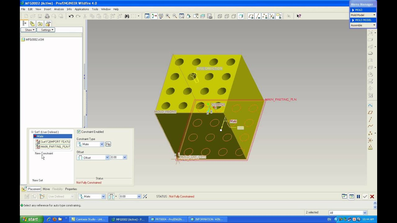 medium resolution of pro engineer mold design