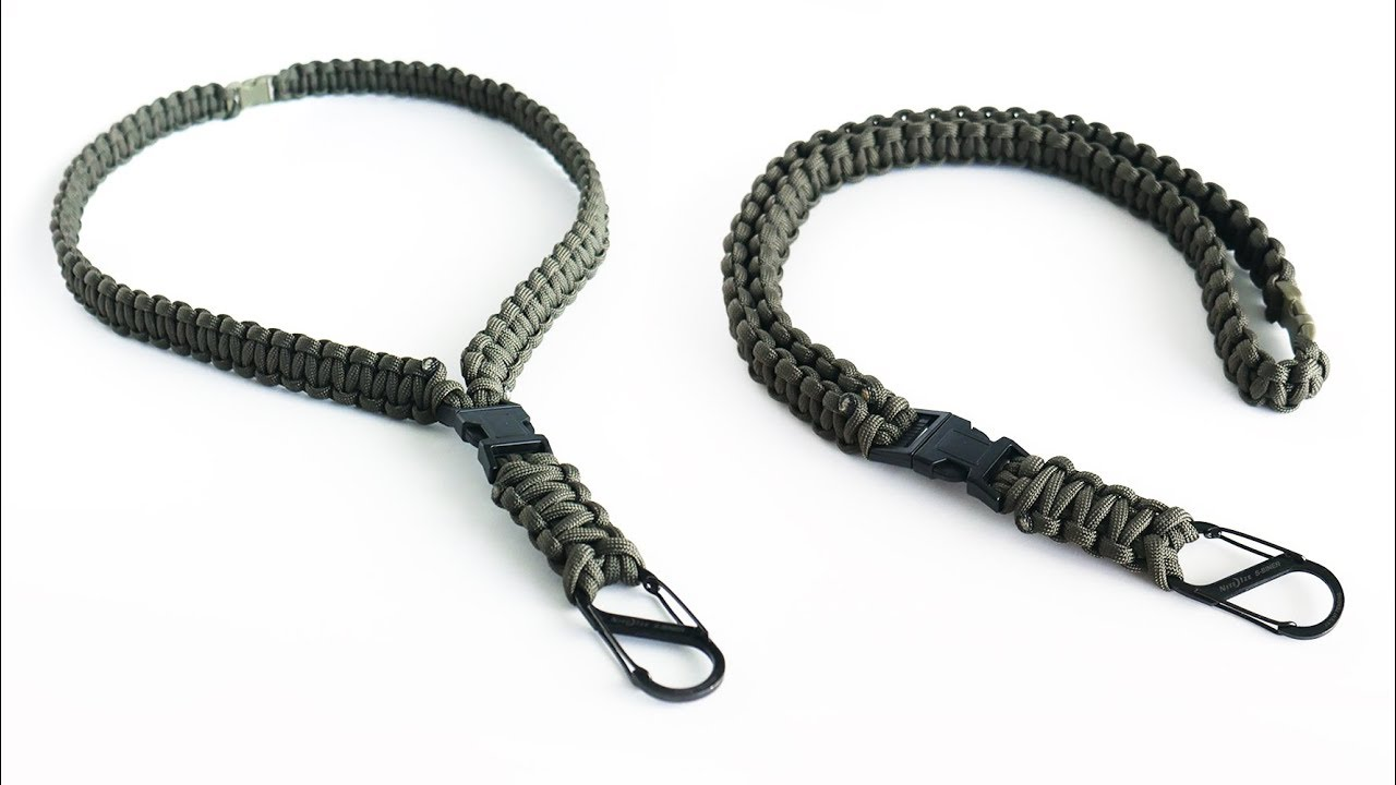 550 Paracord Set 2 Couleur bracelet-key fob-lanyard