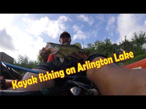 Kayak Fishing On Arlington Lake