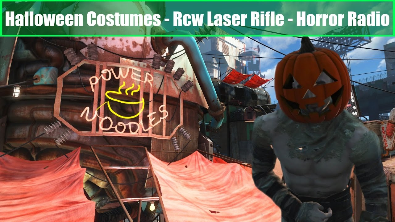 fallout 4 mods halloween costumes rcw tommy gun horror radio