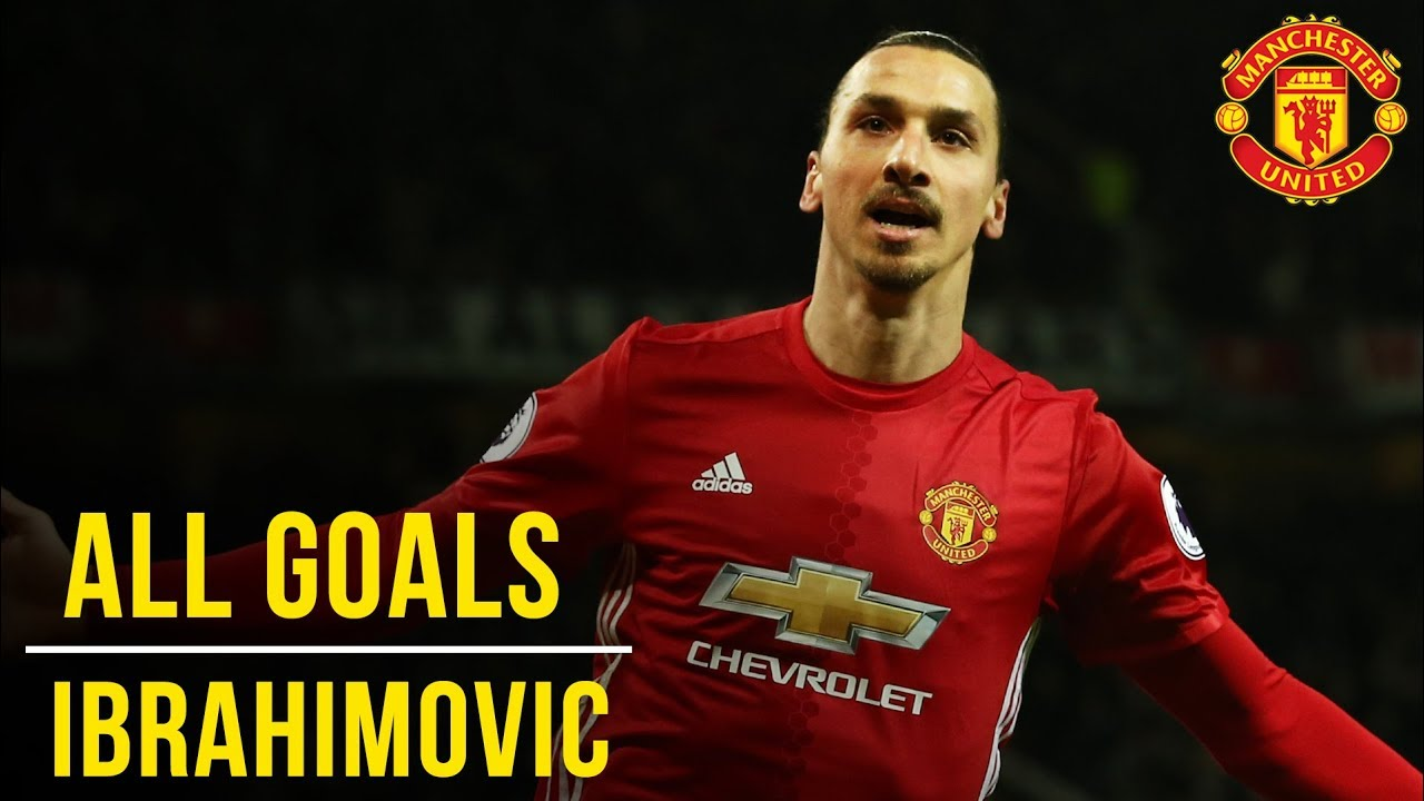 super popular c86a7 277a6 Zlatan Ibrahimovic | All the Premier League Goals (16/17) | Manchester  United