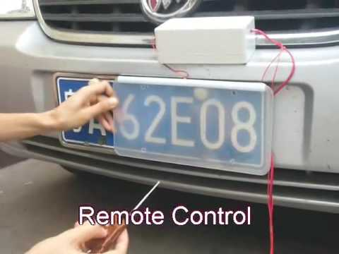 Car Licence Plate Protective Screen Youtube