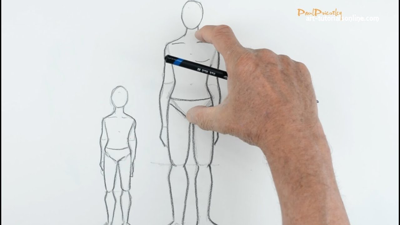 68bd8550a60c1 Draw People  Part 1 - Proportion - YouTube