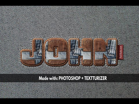 How To Create A Stitch Jeans And Leather Text Effect In Photoshop