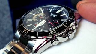Unboxing CASIO Men's Diver Watch Day Date 24hrs MTD320D! October 2017!