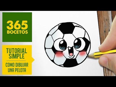 COMO DIBUJAR UNA PELOTA KAWAII PASO A PASO - Dibujos kawaii faciles - How to draw a ball