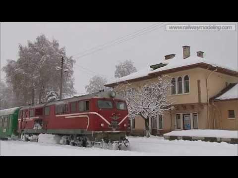760 mm narrow gauge railway - Bulgaria. Winter tale. January 2012