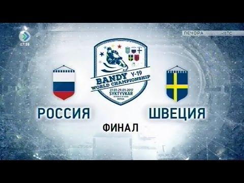 Первенство мира по хоккею с мячом среди юниоров. Финал. Россия-Швеция. 29 января 2017