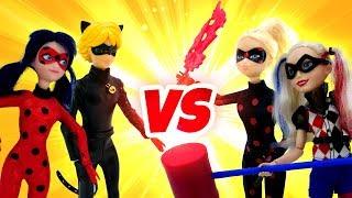 Игры для девочек - Леди Баг и Супер Кот против Антигероев! – Сборник видео для детей.