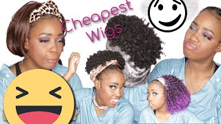 SLAY OR THROW AWAY?! CHEAPEST HEADBAND WIGS I COULD FIND ON AMAZON!! WATCH THIS! | MARY K. BELLA