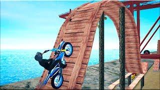 Tricky Bike Extreme Trail Stunt Master - Gameplay Android game - bike stunt rider game