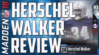 How Good is 93 Overall Herschel Walker? MUT 18 Card Review