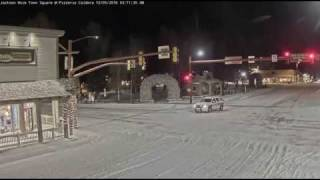 Jackson, WY police chase red truck - Dec 5, 2016