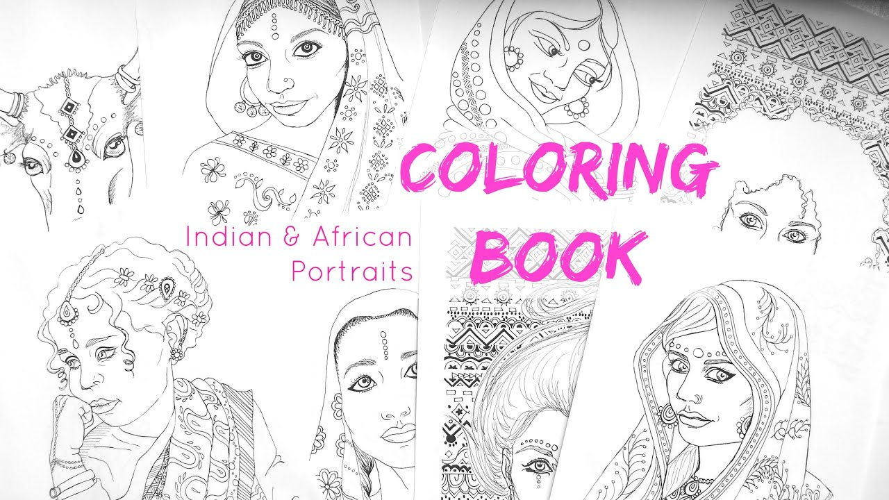 Printable Adult Coloring Book || African and Indian Coloring Pages ...