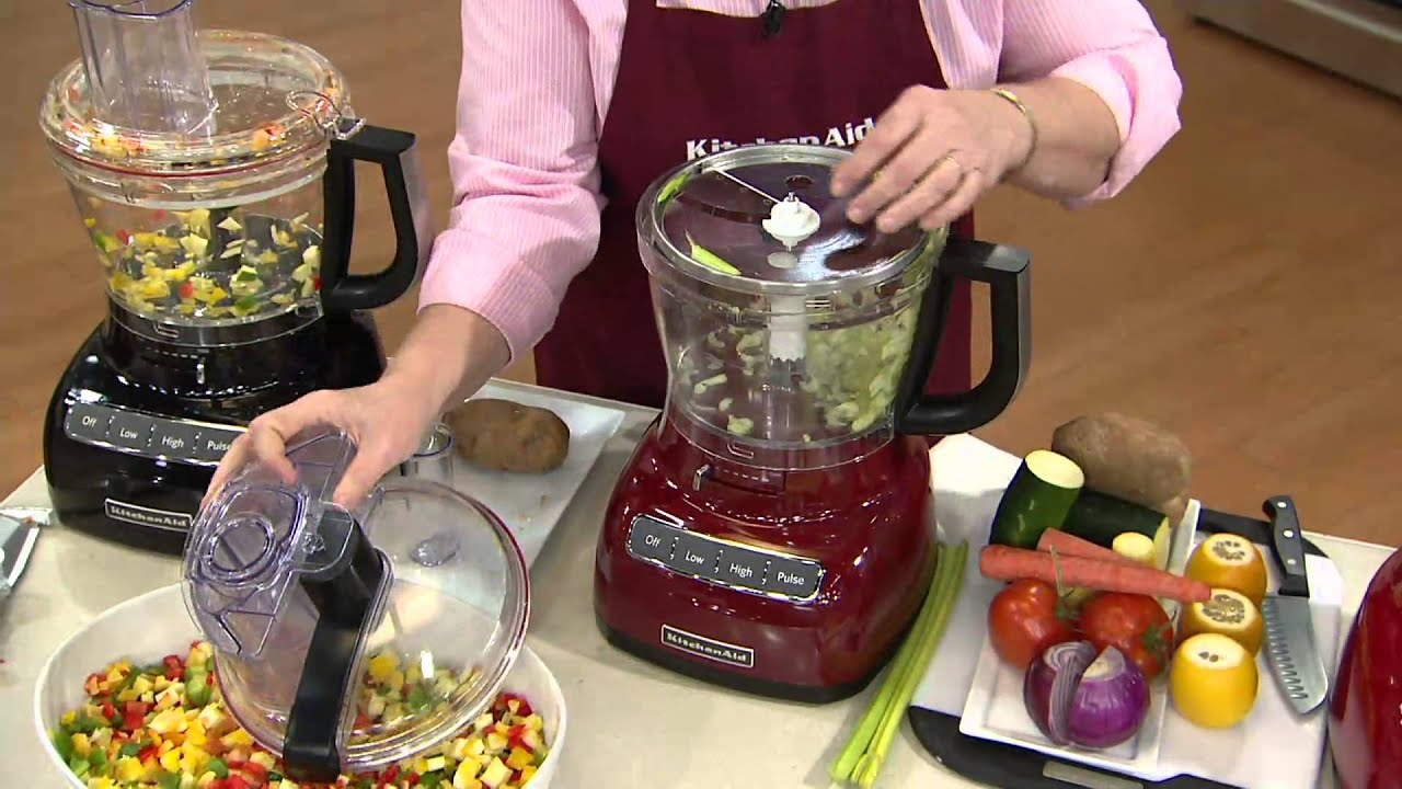 Kitchenaid 13 Cup Exact Slice Food Processor With Dicing Kit On Qvc