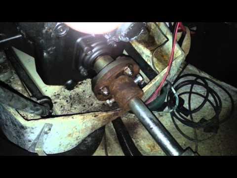 Yanmar SVE SB8 Marine Diesel - Propeller shaft