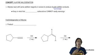 General properties of double addition reactions to alkynes