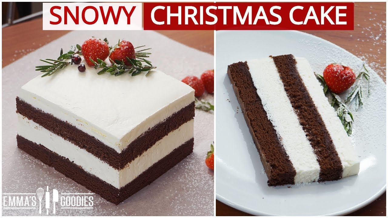 The Christmas Cake Your Entire Family Will Love Snowy Chocolate Cake Youtube