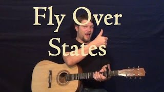Fly Over States (Jason Aldean) How to Play Easy Strum Chord Guitar Lesson for Beginners
