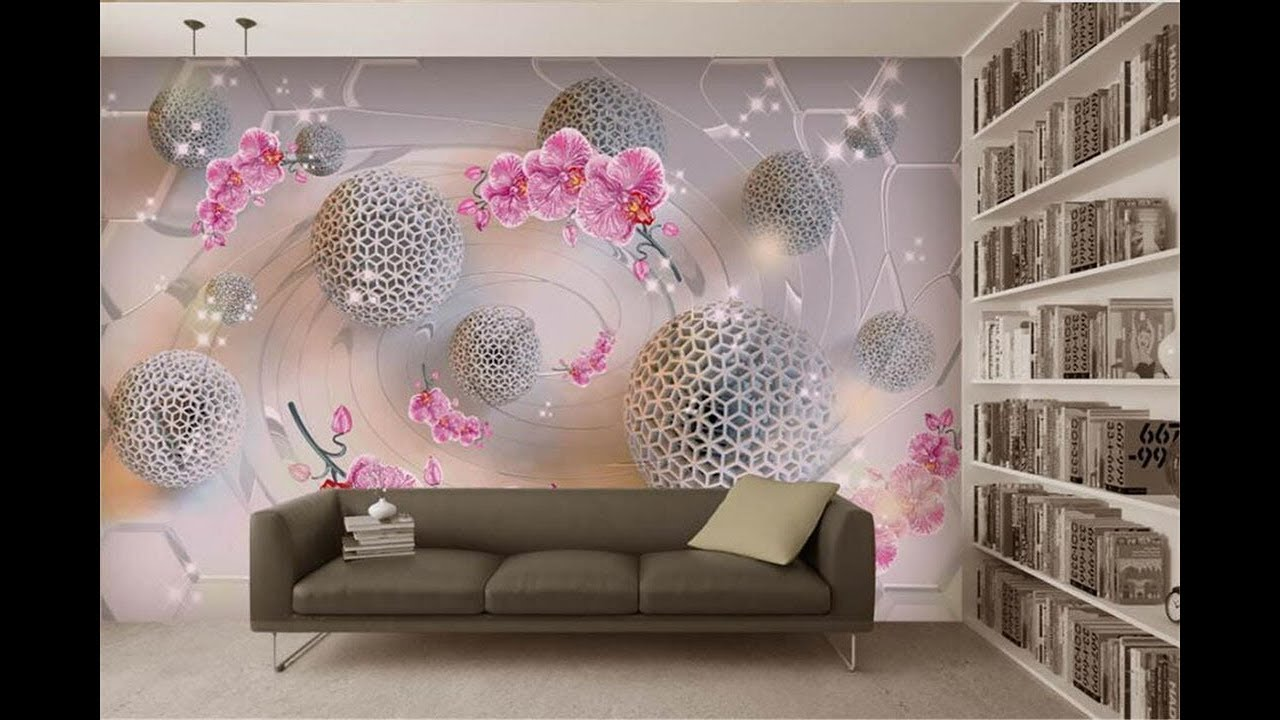 50 Stylish 3d Wallpaper For Living Bedroom Walls 3d Wall Murals As Royal Decor Youtube