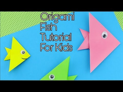 Easy Origami Fish DIY - Easy Origami For Kids - Origami Paper Fish Tutorial Step By Step