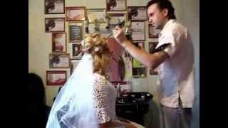 Свадебные прически на дому недорого parikmaher-na-dom.com(Недорогие свадебные прически в домашних условиях от опытного свадебного стилиста салона свадебных причес..., 2013-11-17T06:39:29.000Z)