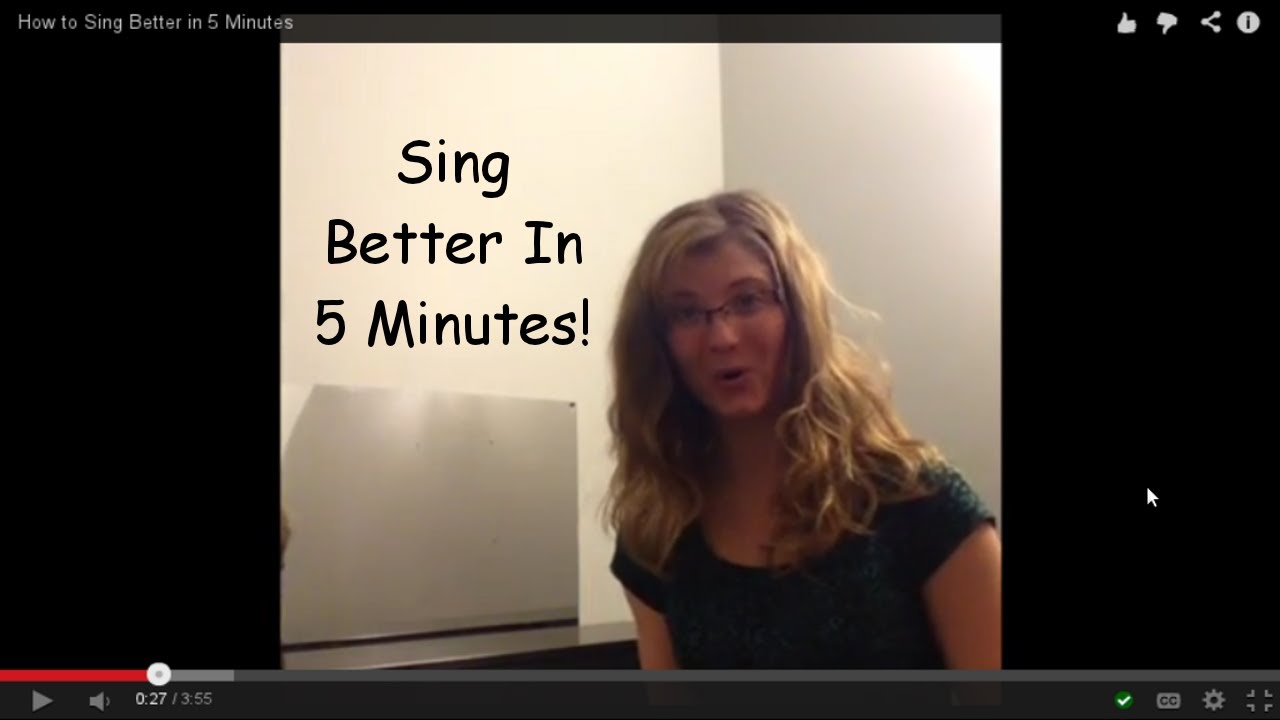 how to sing better in 4 minutes youtube. Black Bedroom Furniture Sets. Home Design Ideas
