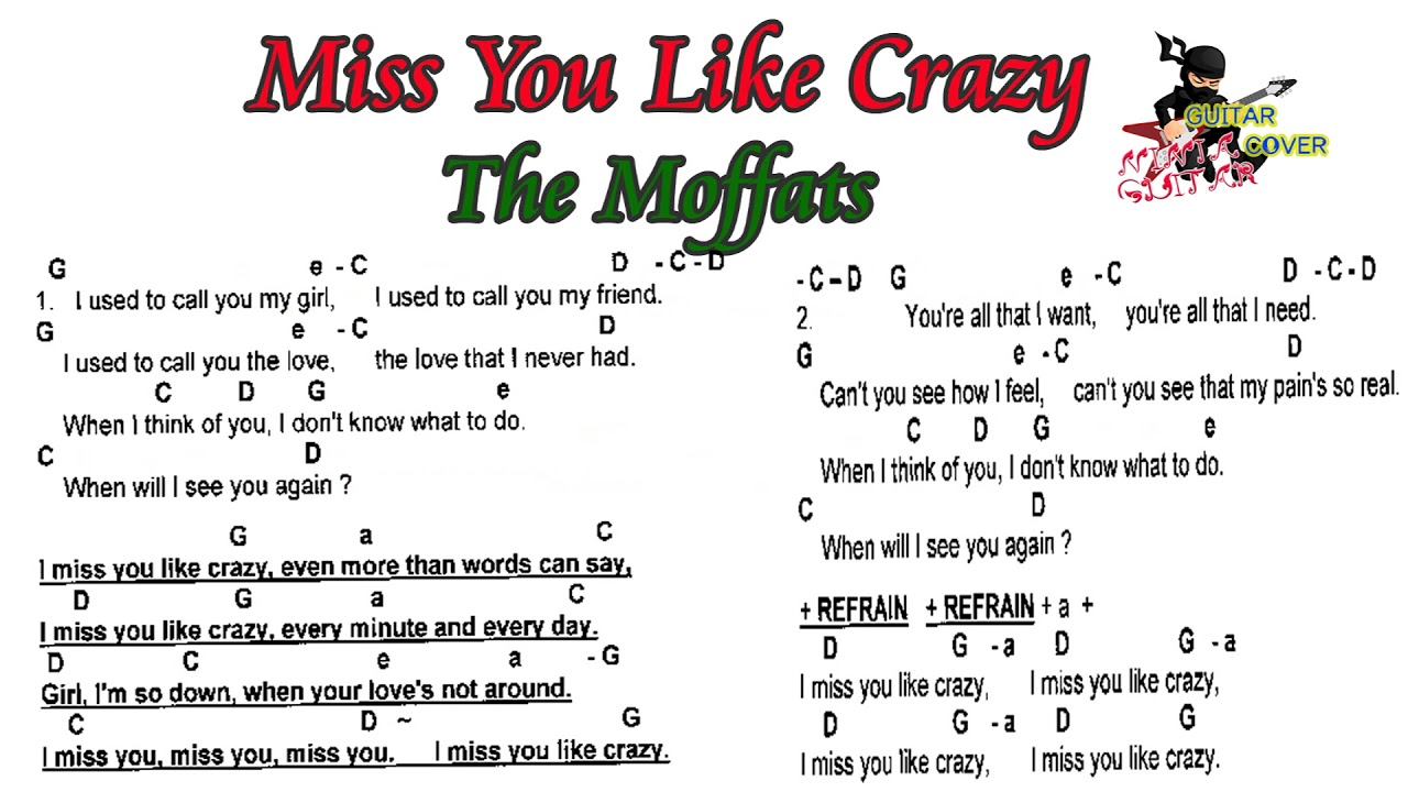 Miss You Like Crazy The Moffatts Lyrics Guitar Chord Guitar