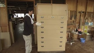 Traditional Chest of Drawers - Kamo Kiri Tansu are Still Made Today by Highly-Skilled Carpenters