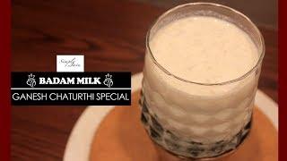 Badam Milk | How To Make Almond Milk |  Ganesh Chaturthi Special | Simply Jain