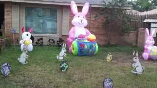 My Yard Decorated For Easter  2013