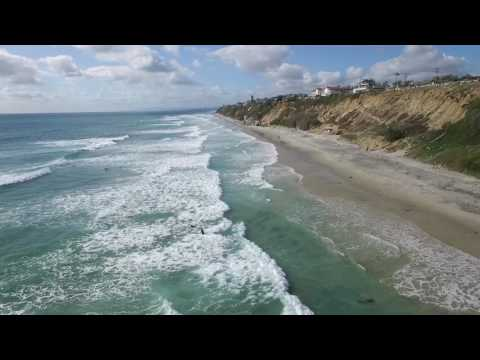 Encinitas Waves - Drone footage of Encinitas California
