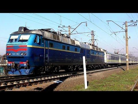 ЧС8-082 с пассажирским поездом №8
