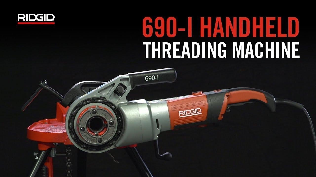RIDGID 690-I Handheld Threading Machine