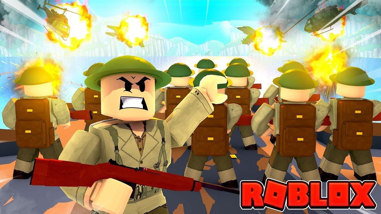 Roblox Ww2 D Day Beach Invasion Roblox World War 2 Youtube