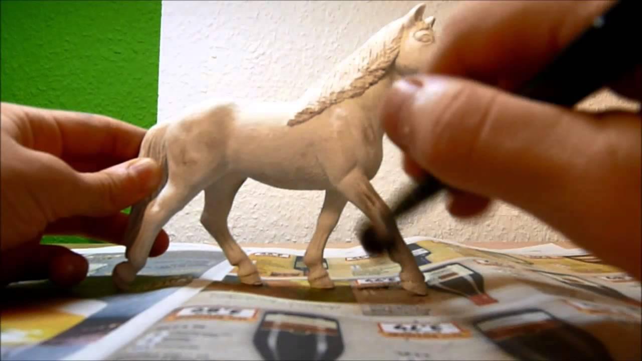 Schleich Apfelschimmel repaint totorial - YouTube