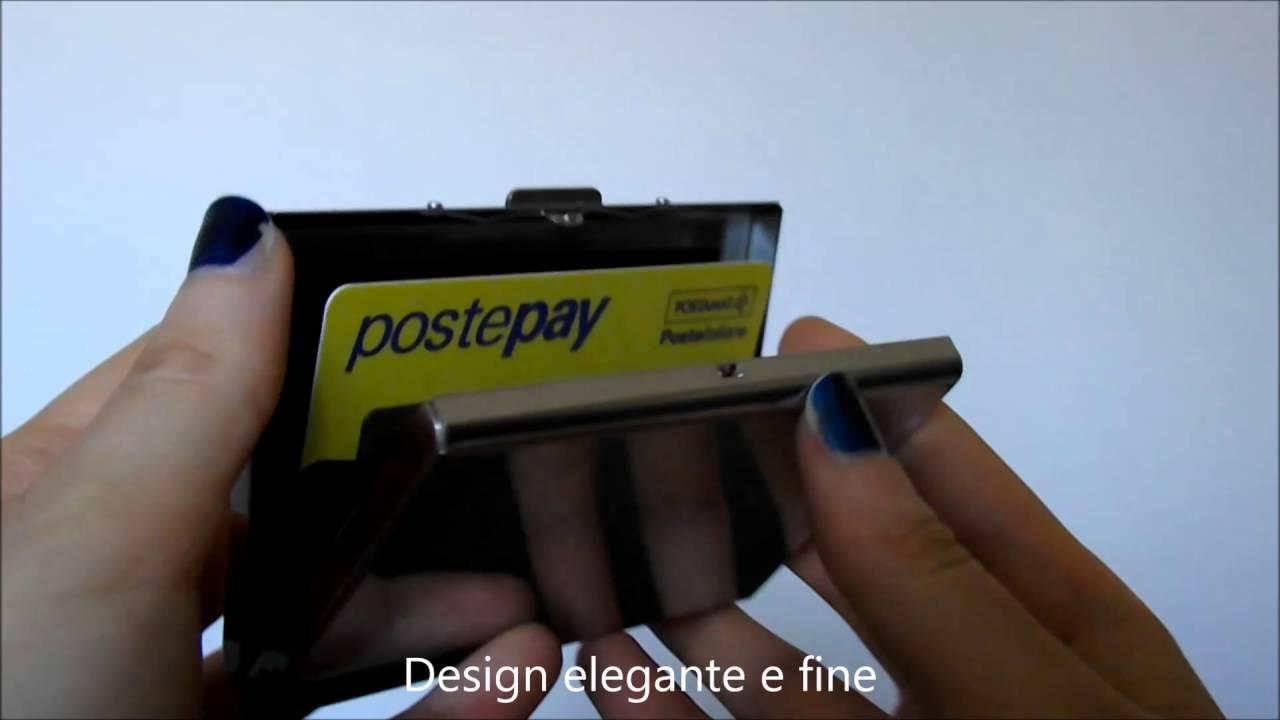 f502559582 Porta Carte di Credito in Acciaio RFID Blocking Caslant - YouTube