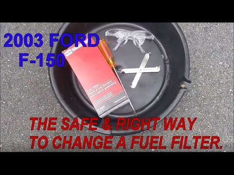 2003 FORD F-150 FUEL FILTER CHANGE - YouTube