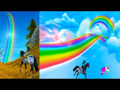 Find The Rainbow Gold + Amazing Cloud Sky World in Star Stable Online Horse Video Game