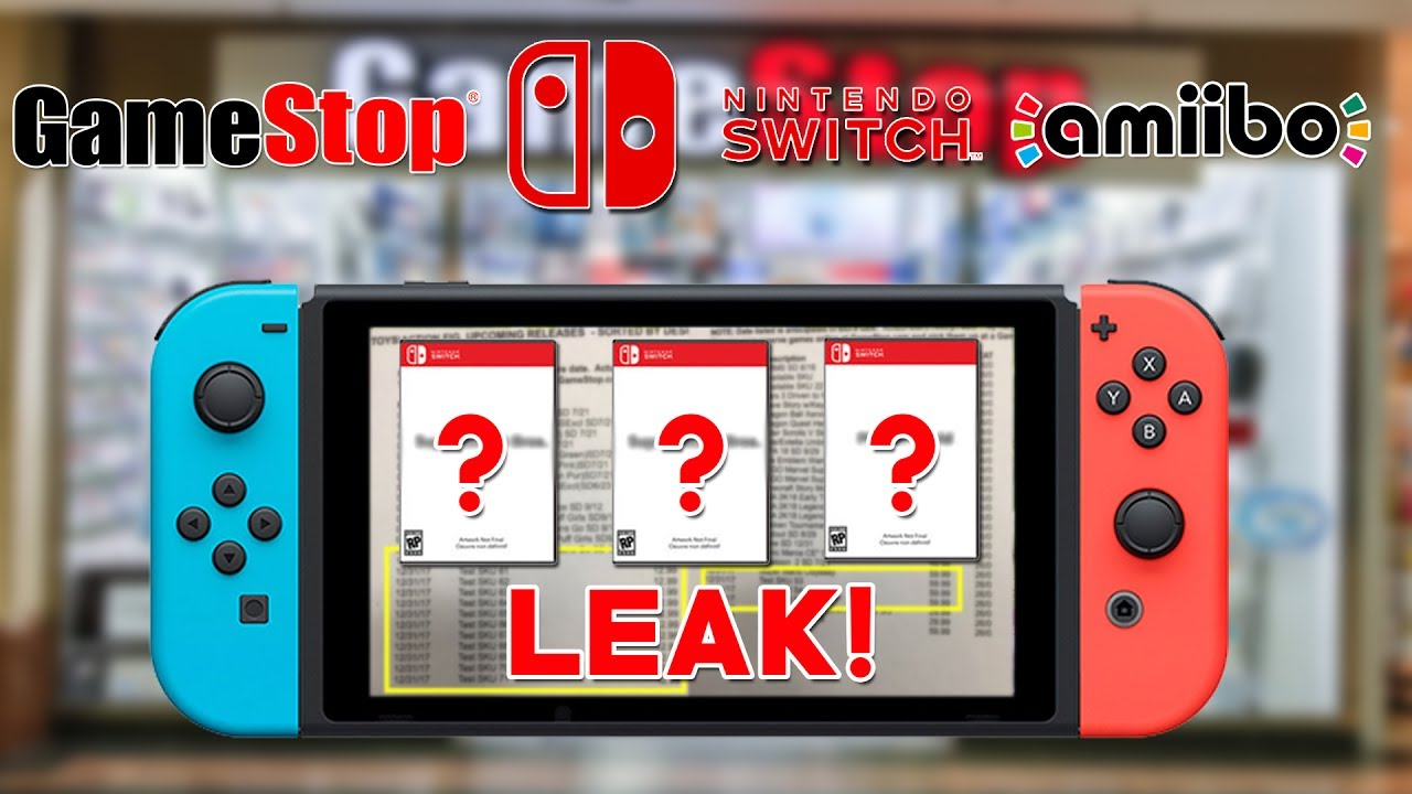 Gamestop Leaks 12 Amiibo 3 Nintendo Switch Games Skus