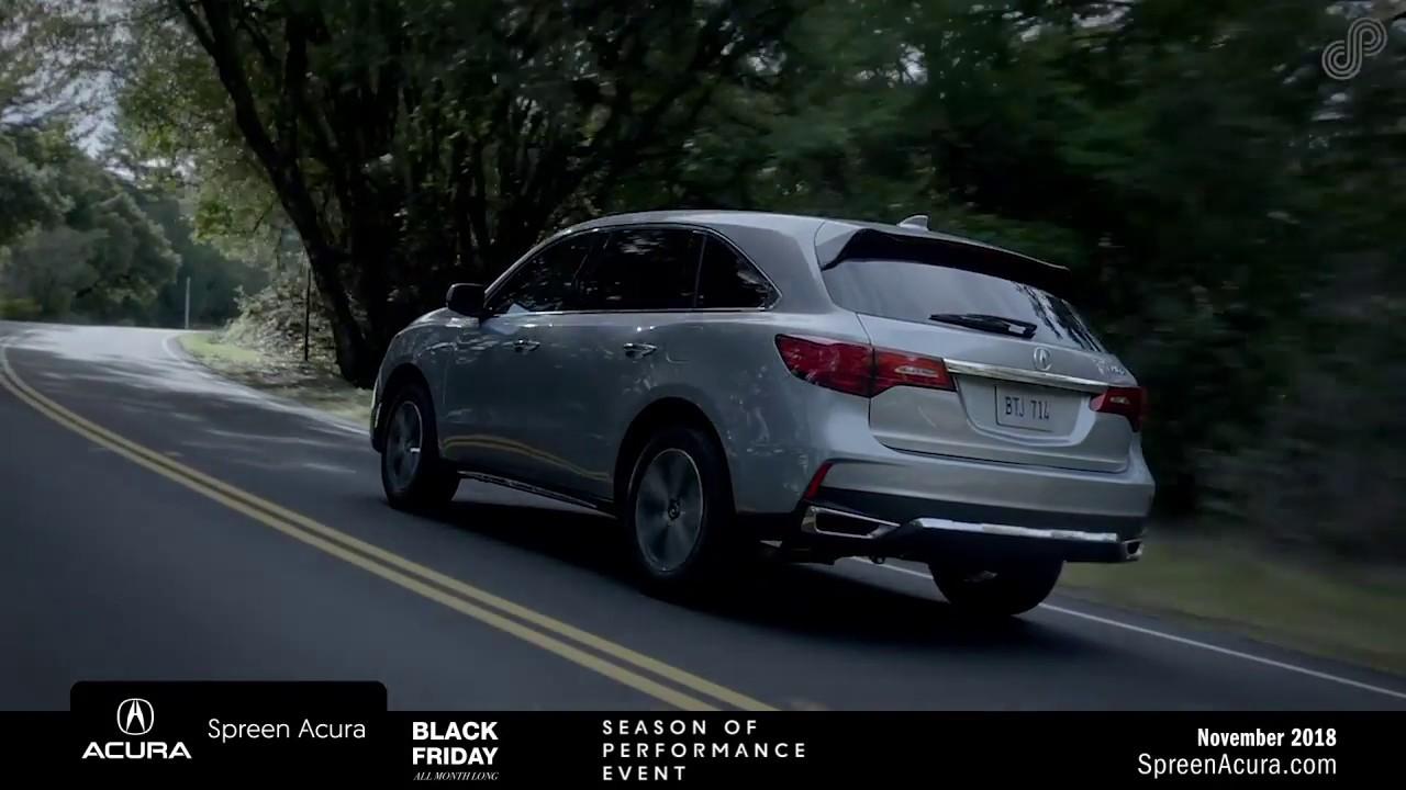 2019 Acura MDX - Spreen Acura (Black Friday Deals) - YouTube