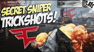 TRICKSHOTS WITH THE SECRET WW2 SNIPER! - Call of Duty: WW2 Trickshotting