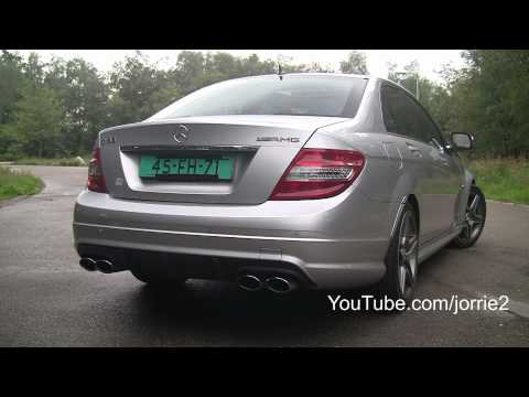 Mercedes Benz C63 AMG Sound!! Revs - accelerations - ride!! - 1080p HD