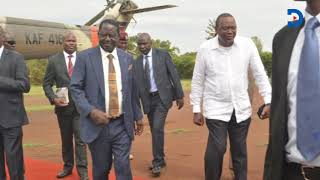 raila-hosts-president-kenyatta-for-breakfast-in-bondo-home