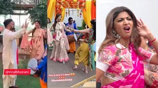 Shilpa Shetty's MAD Dance Performance With Husband Raj Kundra At Their Family Wedding Sangeet