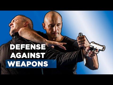 Fight gun, knife, stick - Combat self defense. Russian martial arts Regular training
