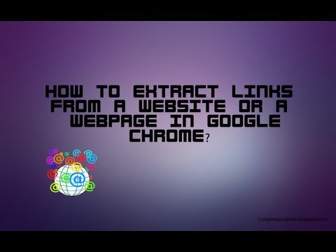 How To Extract URLs From A Website In Chrome? (No Downloads Required)